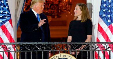 Barrett, Trump's Supreme Court Candidate, Sworn in at the White House