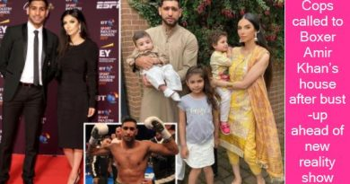 Cops called to Boxer Amir Khan's house after bust-up ahead of new reality show