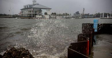Hurricane Zeta breaks a levee in Louisiana, about 400,000 without power