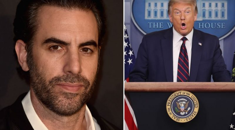 """Trump and Sacha Baron Cohen insult each other and the 'Borat' actor offers the president a """"job"""""""