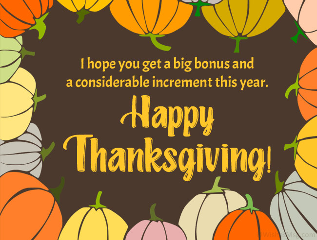 Thanksgiving Messages for Colleagues