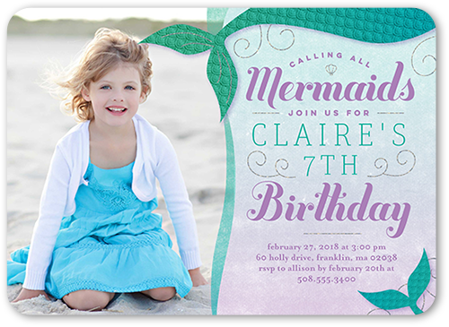 Mermaid Birthday Party Invitation 1