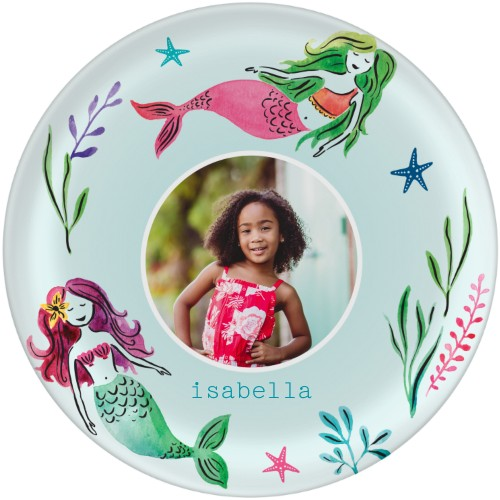 mermaid plates for mermaid birthday party decor