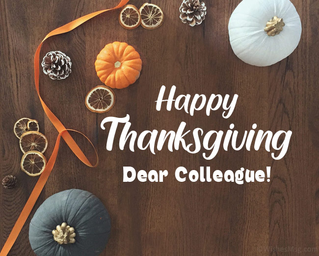 happy thanksgiving message to colleagues