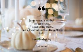 "Thanksgiving Day Wish"" Quote"