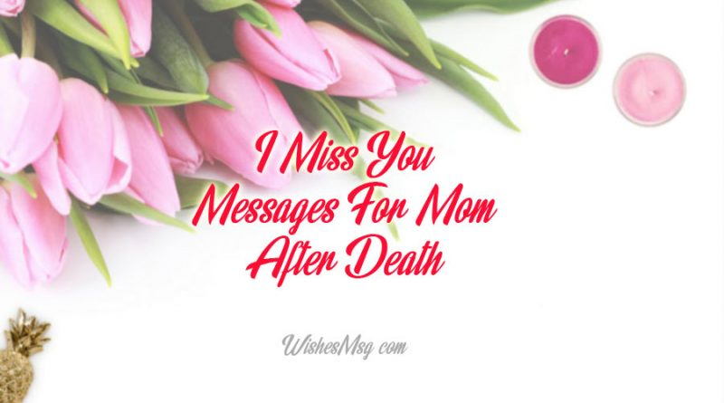 I Miss You Messages For Mom After Death – missing you