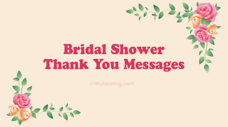 Bridal Shower Thank You Messages – Christmas 2020