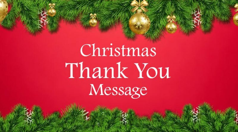 Christmas Thank You Messages and Wishes – Christmas 2020