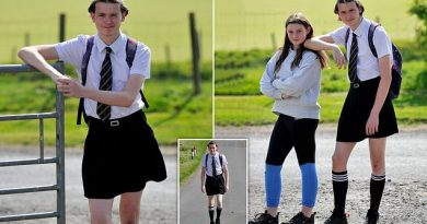 moffat schoolboy wears skirt in protest at dress code pic