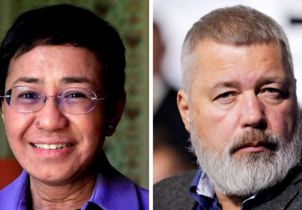 maria ressa and dmitry muratov jointly won the 2021 nobel peace prize